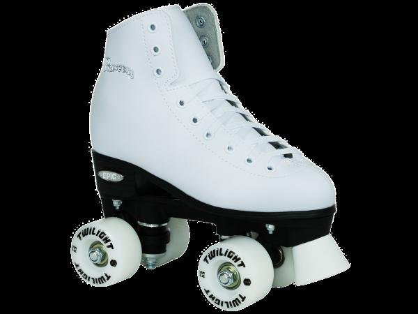 epic princess twilight led quad roller skate