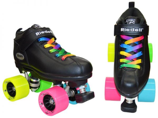 riedell dart double rainbow quad roller skate