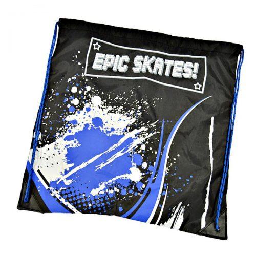 epic skates blue drawstring bag